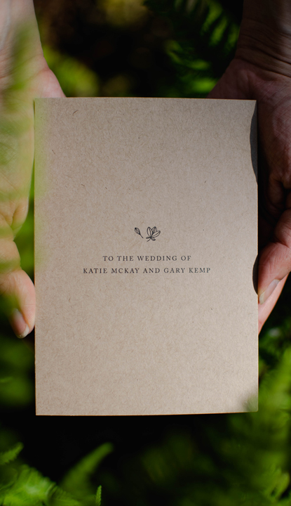 Katie and Gary bespoke wedding stationery