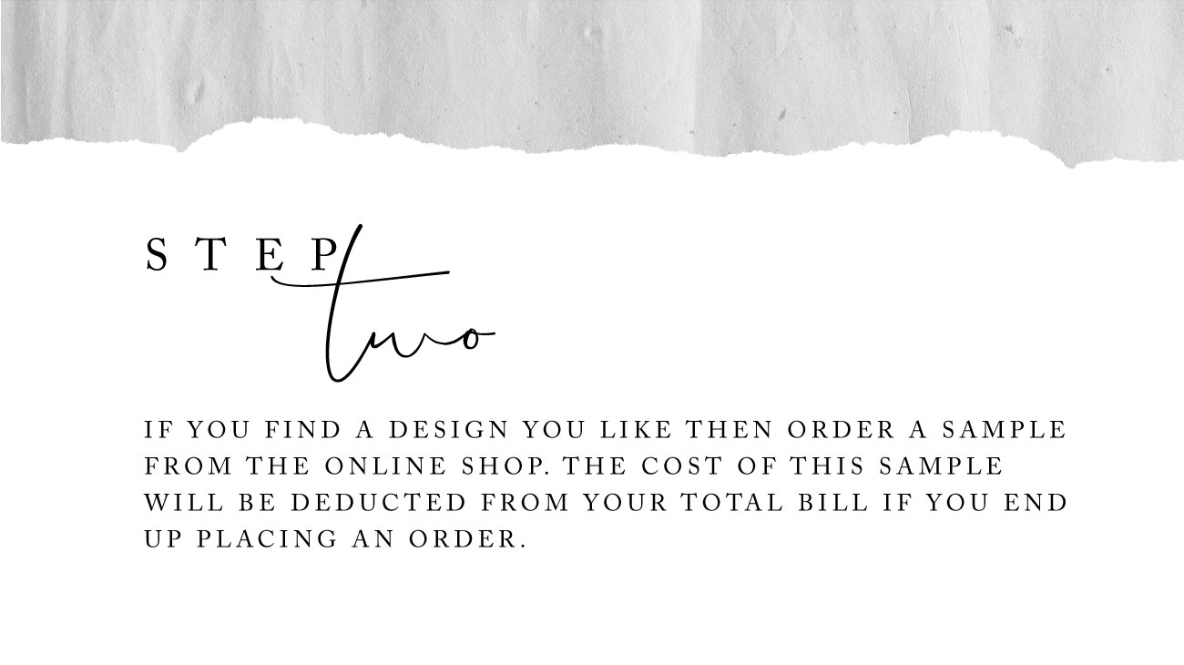 How to order a tailored collection