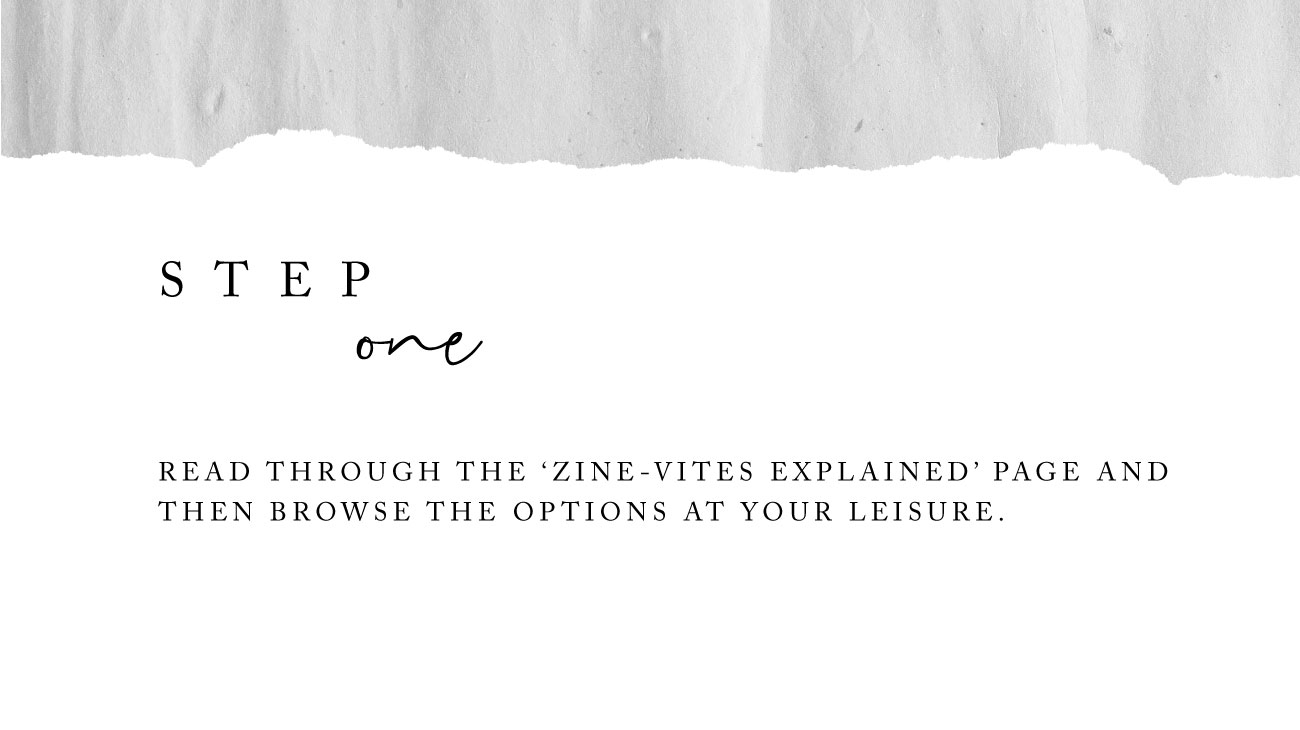 How to order a Zine Vite