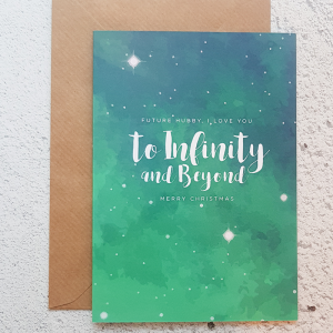 To infinity and beyond christmas card